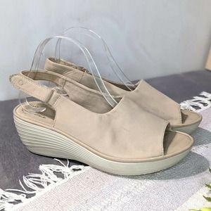 NEW Clarks Reedly Shaina Wedge Sandals Ortholite